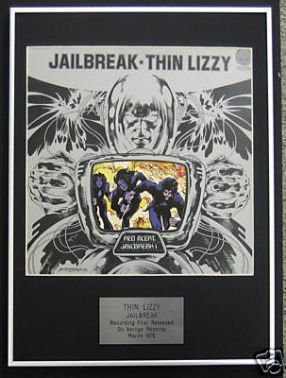 THIN LIZZY - Framed LP Cover - JAILBREAK
